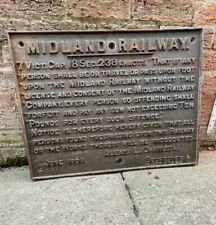 More details for original victorian cast iron railway sign dated june 1899 'midland railway'
