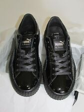 Puma by rihanna creeper cracked leather women color: Black size: 8.5