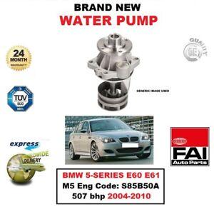 FAI WATER PUMP for BMW 5-SERIES E60 E61 M5 Eng Code: S85B50A 507 bhp 2004-2010