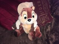 "VINTAGE DISNEY CHIP AND DALE RESCUE RANGERS 11"" SOFT TOY PLUSH CHIPMONK VGCC"