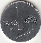 ITALIA LIRE 1 CORNUCOPIA FIOR DI CONIO 1988 DA SET DI ZECCA