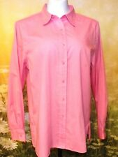 FOXCROFT Candy Pink Wrinkle-Free Non-Iron Cotton Classic Fit LS Shirt 14 $86