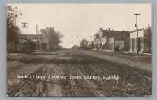 Dirt Main Street CHENEY Kansas RPPC Rare Antique Photo—Sedgwick County Photo '10