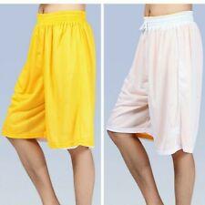 Men Reversible Sports Shorts Long Legs Baggy Mesh Boxer Pants Drawstring Fashion