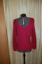 Talbots Pure Cashmere Plum Color Scoop Neck Sweater Size S Petites Excellent