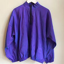 Vintage 90s Venini's Sportswear Irridescent Purple 1/4 Zip Windbreaker Pullover