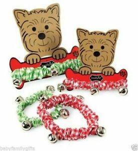 Mud Pie Christmas Santa Paws Pet Lover Jingle Dog Collar Red or Green 20123