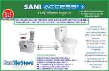 SANIFLO SANIACCESS 2 ROUND KIT & SLOW CLOSE SEAT, EXT PIPE & TRIM 3YR WARRANTY