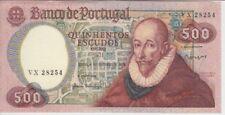 PORTUGAL BANKNOTE P177 CH11-8254  500 ESCUDOS 1979 , PREFIX VX, AU