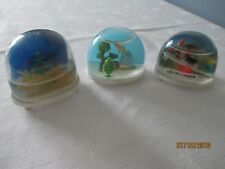 3 Vintage Snow Globes