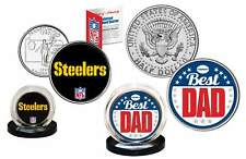 Best Dad - PITTSBURGH STEELERS 2-Coin Set Quarter & JFK Half Dollar NFL LICENSED