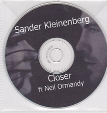 Sander Kleinenberg-Closer Promo cd single