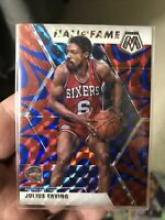 Julius Erving - Reactive Blue Prizm Hall of Fame - 2019-20 Panini Mosaic - #288