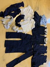 Size 5/6 Girls Dress Pants Top School Girl Uniform Blue White