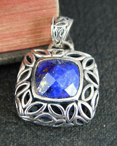 Angela by John Hardy 925 Sterling Silver Faceted Blue Lapis Pendant / Charm