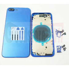 Blue For iPhone 8 & 8PLUS  Replace Housing Back Cover Metal Glass Case With Logo