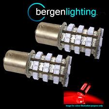 382 1156 BA15S 245 207 P21w Xenón Rojo 48 Led SMD bombillas luz ANTINIEBLAS