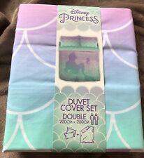 BNWT DISNEY ARIEL The Little Mermaid Reversible Double Duvet Set Primark Bedding
