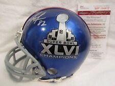 Mario Manningham Autographed New York Giants S.B. XLVI Mini Helmet – JSA Cert