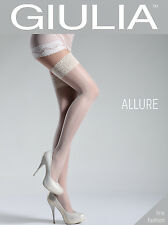 Giulia Allure 20 Denier Floral Side Seam Patterned Hold Ups 4 Color Choices #5