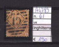 FRANCOBOLLI INGHILTERRA USATI N°61 (A4789)