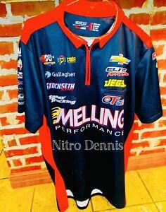 NHRA Erica Enders RACE WORN Crew Shirt MELLING Jersey PRO STOCK Drag Racing