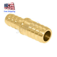 """Brass Hose Barb Reducer 3/4"""" to 5/8"""" ID Fitting Splicer Mender Union Air Water"""