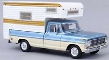 NEO SCALE MODELS 44849, FORD F100 CAMPER 1968, TURQUOISE, 1:43 SCALE