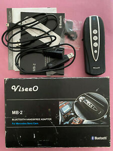 Mercedes Benz ViseeO MB-2 BLUETOOTH MOBILE PHONE ADAPTOR + Cables Instructions d