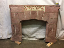 """Hand Painted Concrete Fireplace Mantle Surround Country Decor 55-1/4"""" x 49-1/2"""""""