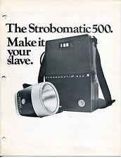 "1968 Vintage Advertising Brochure: GRAFLEX ""Strobomatic 500"" Flash"
