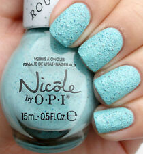 Nicole OPI Roughles ON WHAT GROUND Pastel Blue Green Texture Nail Lacquer Polish