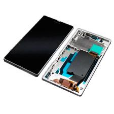 Display LCD Pantalla + Táctil + Marco Frame Sony Xperia Z L36h Blanco
