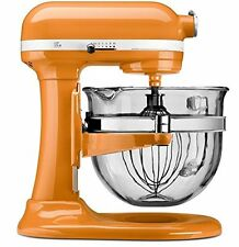 KitchenAid KF26M2XTG 6-Qt. Professional 600 Design Glass Bowl Tangerine Orange