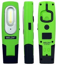 WELZH Rechargeable LED Inspection Lamp COB Work Light Super Bright 2W GREEN