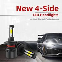H4/HB2/9003 COB LED Faro a 4 lati con lampadina Cree a fascio alto e basso Xenon