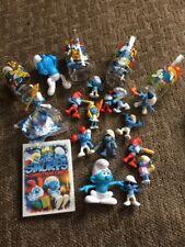 Vintage 1983 Smurf Glasses Set 4. Smurfs Toys 18 Piece Smurf Set ~ Smurf's Lot