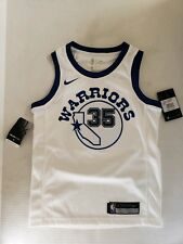 NIKE GOLDEN STATE WARRIORS KEVIN DURANT #35 SEWN WHITE SWINGMAN SMALL JERSEY NWT