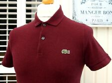 Lacoste L! VE Port chiné Pique Polo-S/M-Taille 3-Mod Ska Scooter Casuals Skins