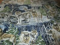 """Timeless Treasure """"WOLVES"""". Pattern#Dona-C4889 ,100% Cotton,by the Yard."""
