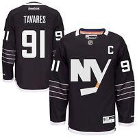 New Men's REEBOK NHL PREMIER JERSEY John Tavares Black Alternate NY Islanders