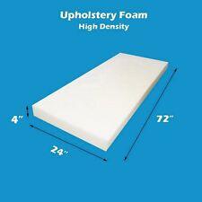 "4""x 24""x 72"" High Density Seat Foam Cushion Replacement Upholstery Per Sheet"