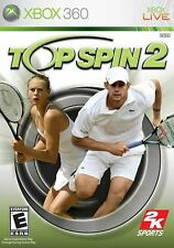 XBOX 360 Top Spin 2 Video Game Multiplayer Online Tennis Court Challenge Action