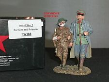 KING AND COUNTRY FW168 WORLD WAR ONE GERMAN BANTAM + PRISONER TOY SOLDIER SET