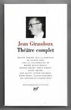 Bibliothéque de la Pléiade / JEAN GIRAUDOUX : THEATRE COMPLET / NRF / 1999 / TBE
