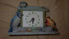 Marjolein Bastin Birdfeeder Clock, works perfectly, Natures Sketchbook, Hallmark