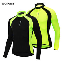 Mens Cycling Jersey Long Sleeve MTB Road Bike Bicycle Tops Full Zipper Sports