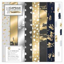 "6 x 6"" Paper Pack (36pk) - Elements Metallics Craft Paper Pack"