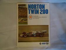 July 18, 1976 Norton Twin 200 Program Ticket Stub & starting positions paper