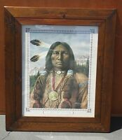 Vintage American Indian Proverb Picture Painting Print by A. Rodriguez